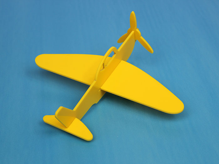 Acrylic yellow air plane laser cutter