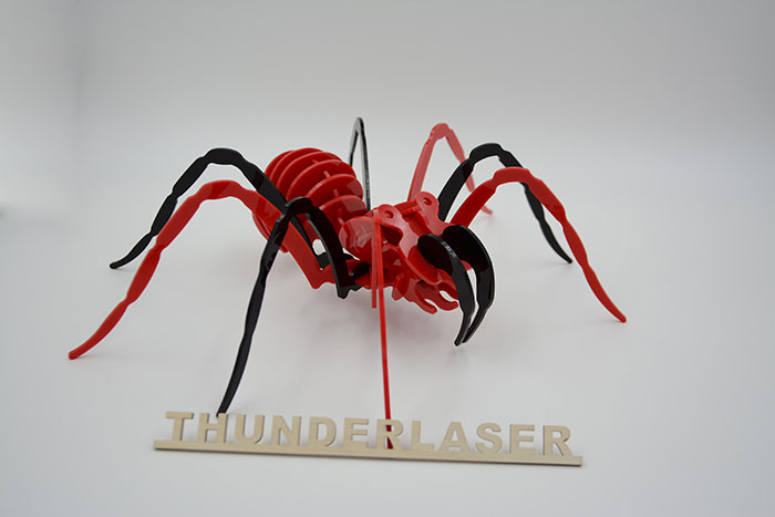 Acrylic spaider laser cutter