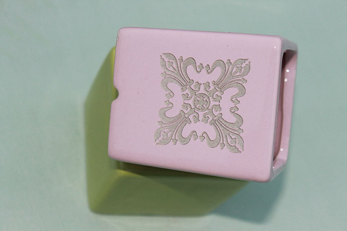 beautiful pink box Ceramic laser engraver