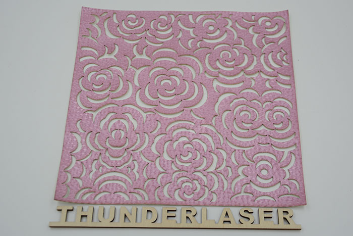 pink Fabric-Leather laser cutter
