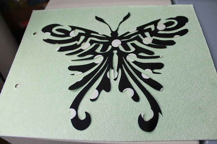 black butterfly Fabric-Leather laser cutter