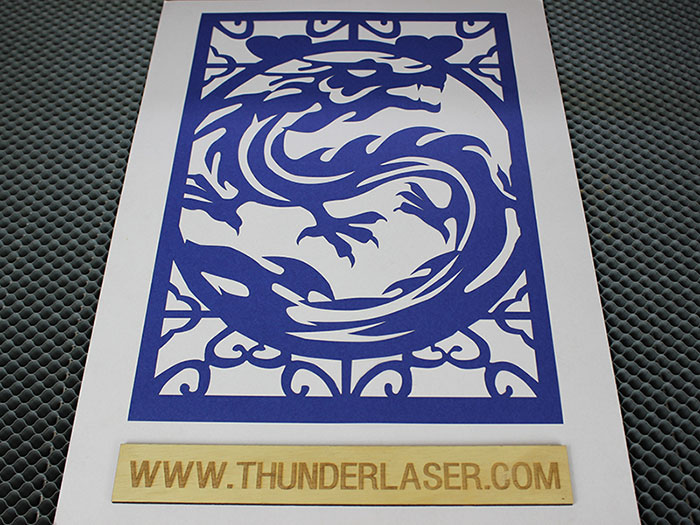 blue dragon Fabric-Leather laser cutter