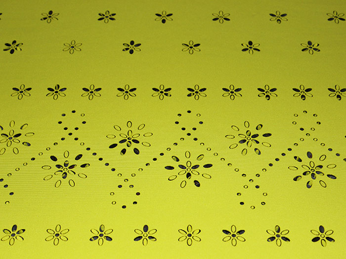 light green Fabric-Leather laser cutter