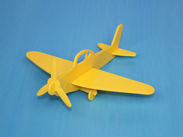 yellow air plane Model laser cutter