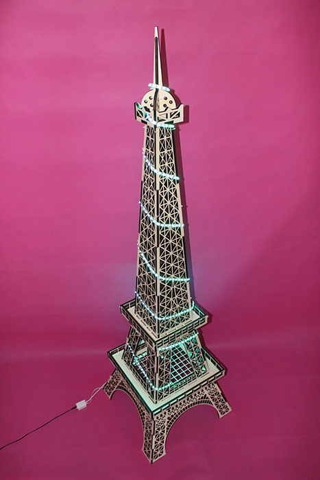 Eiffel Tower Model laser cutter
