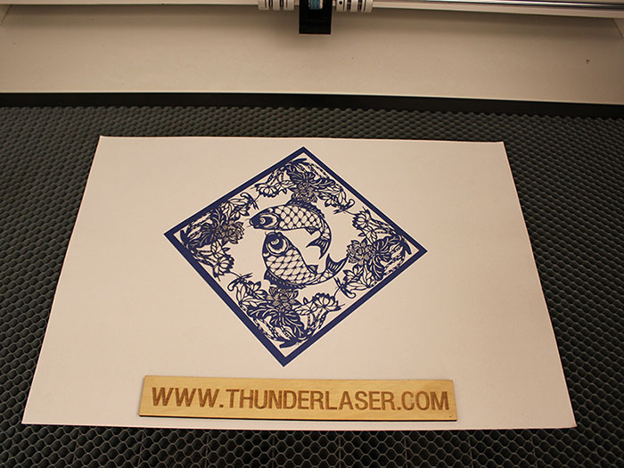 double fish Paper laser cutter