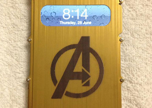 yellow phone case Coated-Metal laser engraver