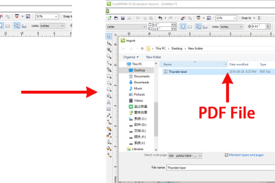 How to import PDF files into RDWorks