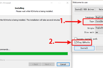 How to install the CorelDraw plugin for RDWorks
