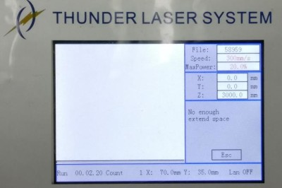 Alarm message of LCD panel—No enough extend space