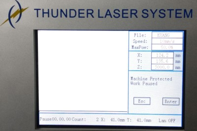 Alarm message of LCD panel—Machine protected
