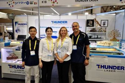 Thunder Laser take part in the Printex 2019 exhibition